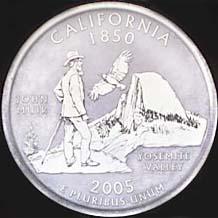 カリフォルニア州25セント硬貨のデザイン